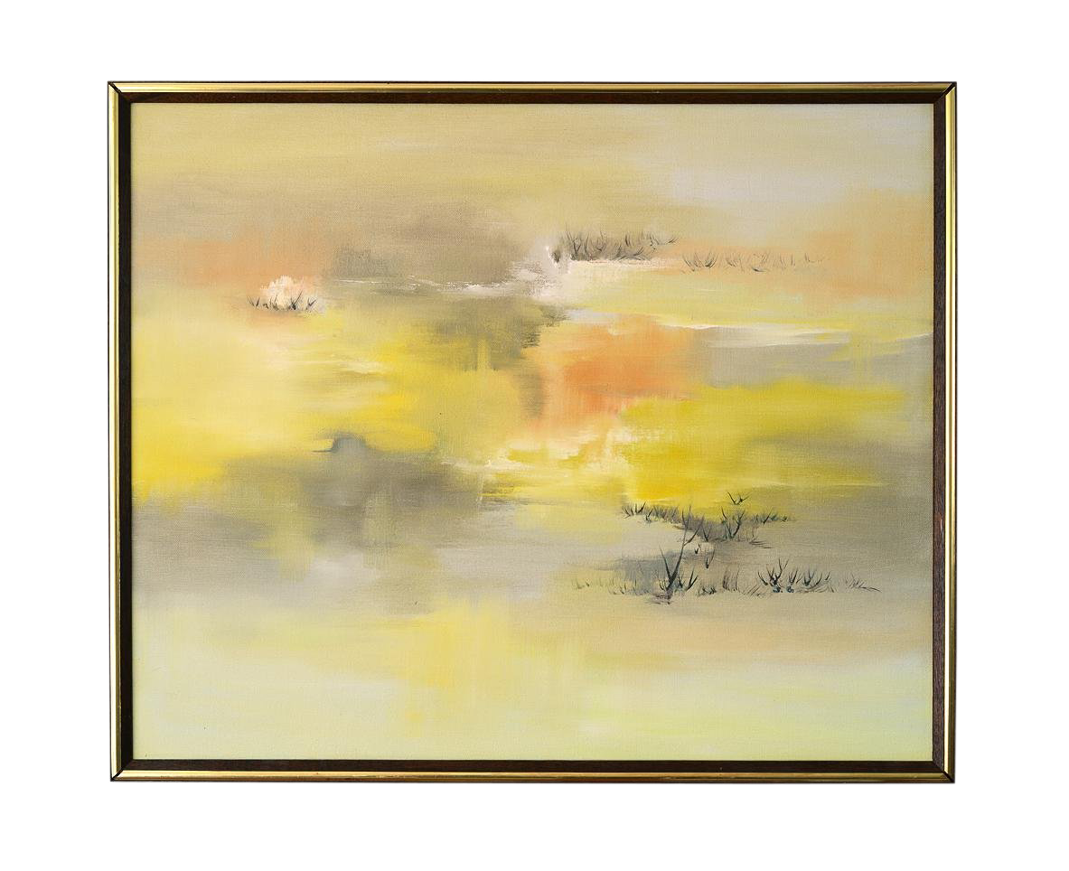 Picture of: Mid Century Modern Semi Abstract Landscape Painting By Shirley Gilman Chairish
