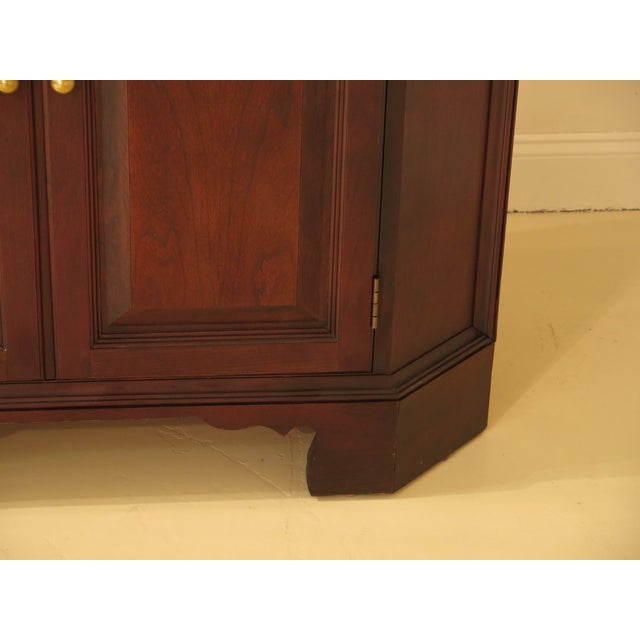 Raised Panel Door Solid Cherry Tv Corner Cabinet For Sale - Image 10 of 13