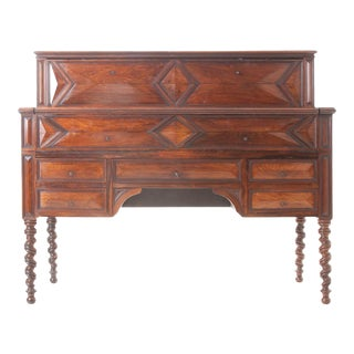 Mid 19th Century French 19th Century Barley Twist Fold Down Desk For Sale