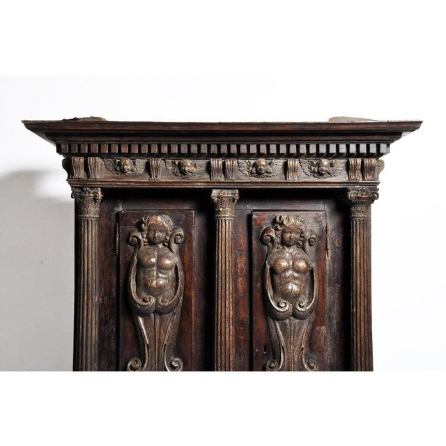 Metal Impressive Renaissance Revival Armoire For Sale - Image 7 of 13