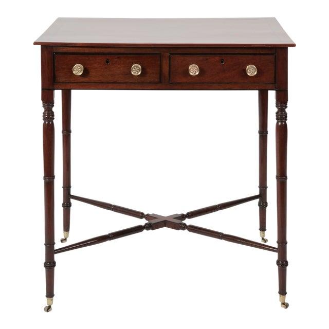 Antique English Regency Mahogany Writing Desk - Antique English Regency Mahogany Writing Desk Chairish