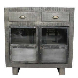Bailey Wooden Grey Cabinet For Sale