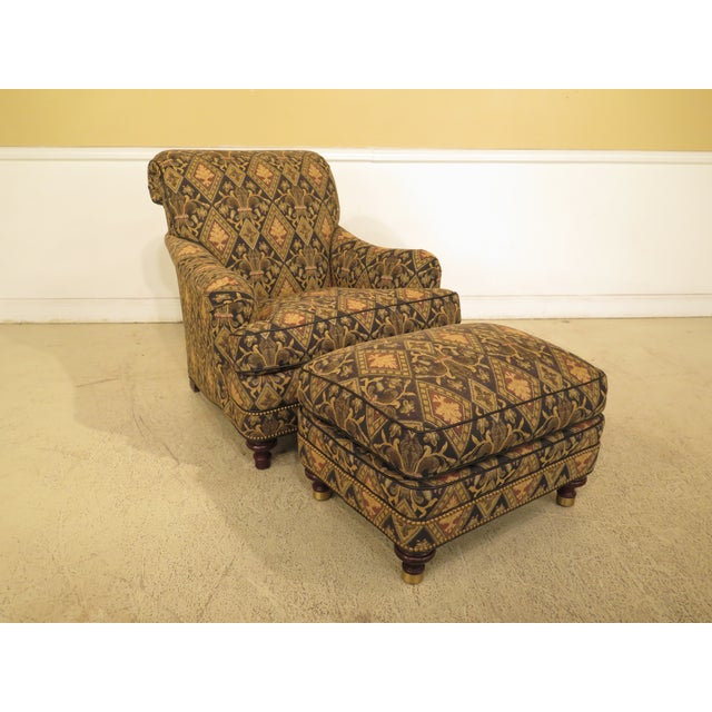 Hancock & Moore Tarleton Upholstered Chair & Ottoman - a Pair For Sale - Image 13 of 13