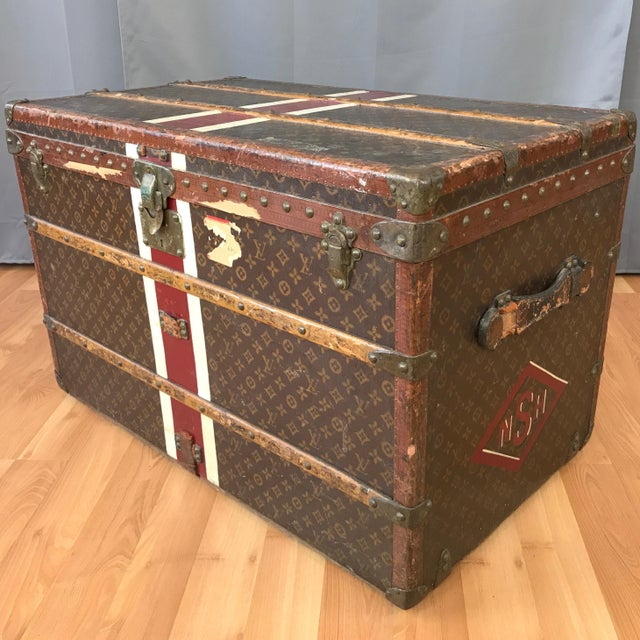 1950s Louis Vuitton Monogram Lady's Steamer Trunk For Sale - Image 13 of 13