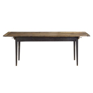 19th Century American Scrubbed Pine Dining Farm Table