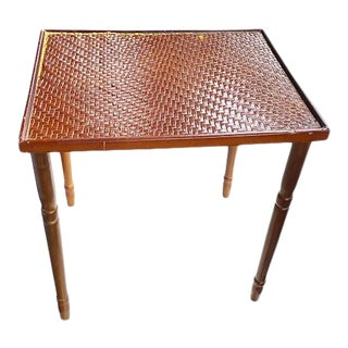 Bamboo Plant Stand or Side Table For Sale