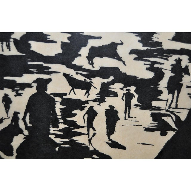 """Mid Century """"Don Quixote at the Paseo"""" Woodcut by Michael Christiana C.1961 For Sale - Image 4 of 11"""