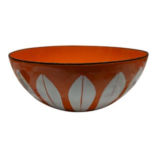 Catherine Holm White on Orange Lotus Bowl For Sale