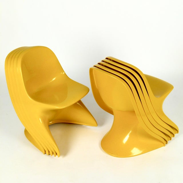 Yellow Casalino I Casala Stackable Child's Chair For Sale - Image 8 of 12