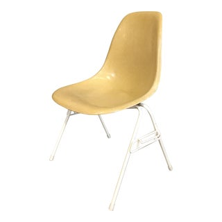 Eames for Herman Miller Yellow Fiberglass Side Shell Chair