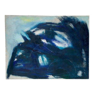 Blue Abstract Painting by Vivian DePinna For Sale