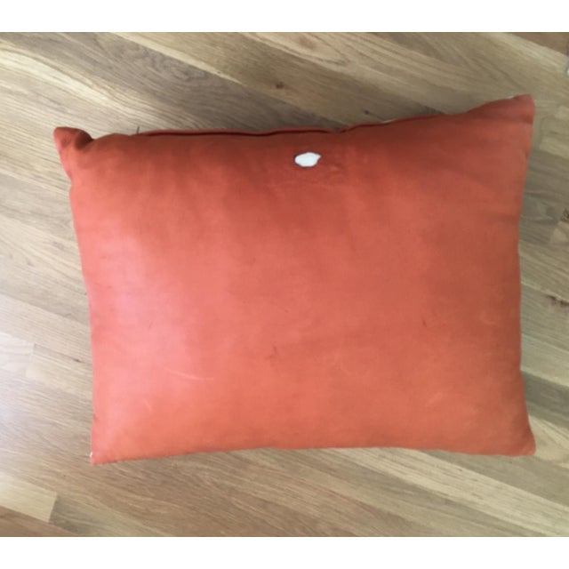 Orange Cowhide Pillow - Image 2 of 6