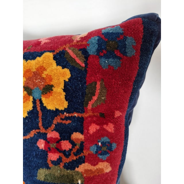 1920s Chinese Art Deco Nichols Rug Custom Pillow For Sale - Image 9 of 13