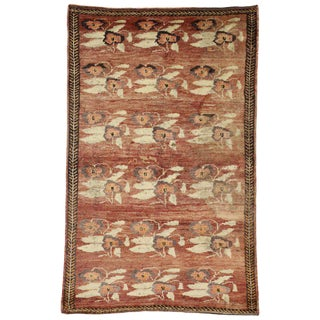 20th Century Turkish Oushak Rug - 4′3″ × 6′8 For Sale