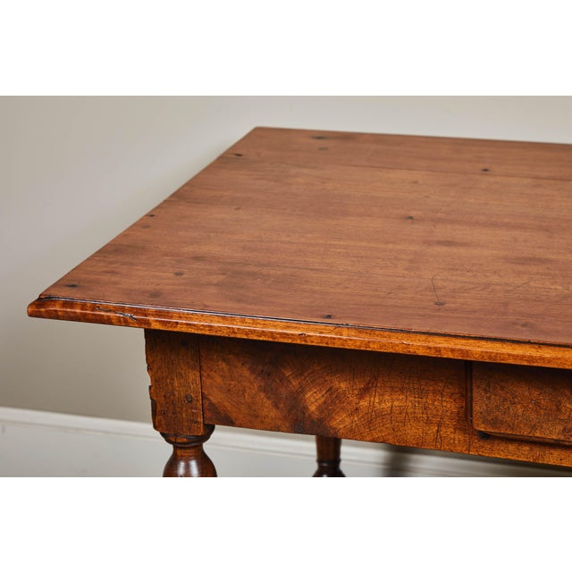 18th C. Louis XIII Walnut Library Table For Sale In Los Angeles - Image 6 of 10