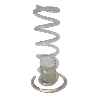 Dorothy Thorpe Lucite Spiral Umbrella Stand