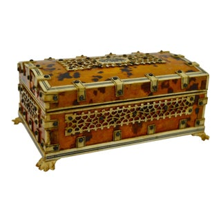 1900s English Traditional Tortoise Shell Box For Sale