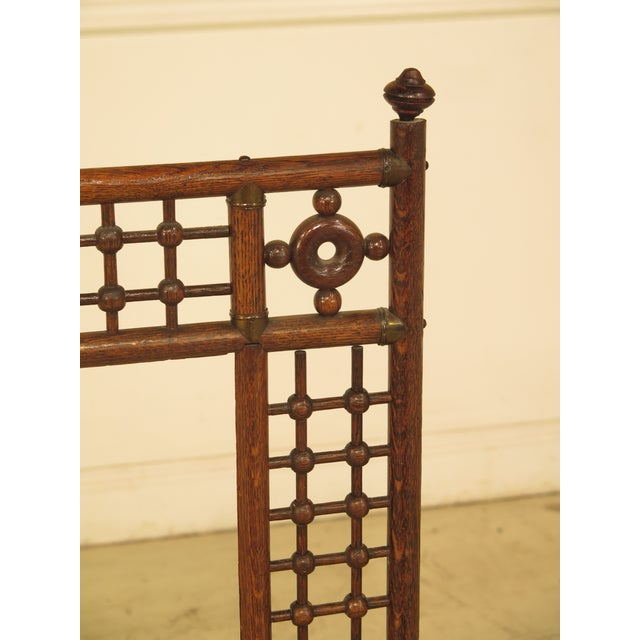 Antique Victorian Stick & Ball Oak Firescreen Frame. Age: Approx: 120 Years Old Details: High Quality Construction...