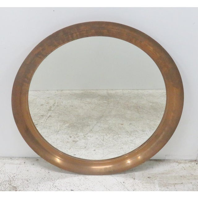 Mid-Century Modern Copper Hanging Mirror - Image 3 of 3