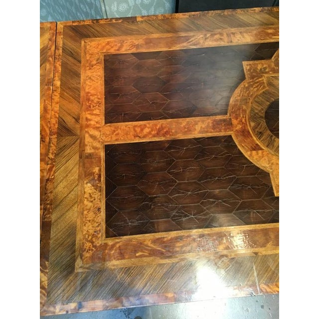 English George III Marquetry Extendable Dining Table For Sale - Image 9 of 10