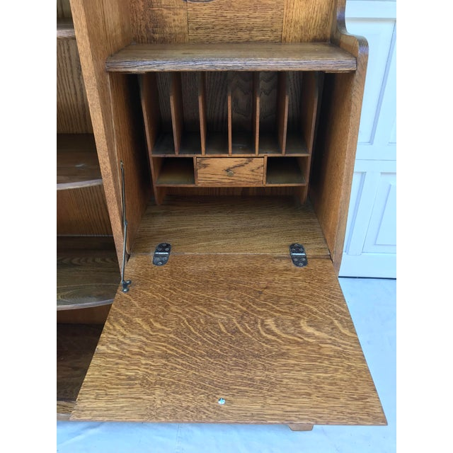 Early 20th Century Vintage Wooden Vanity With Storage and Secretary Desk For Sale - Image 5 of 13