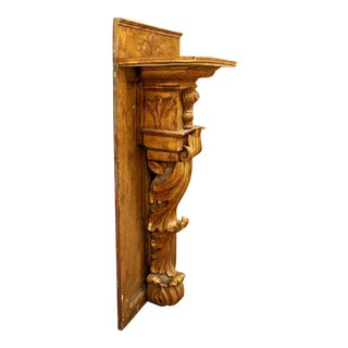 19th Century Italian Carved Wood Console or Wall Bracket For Sale