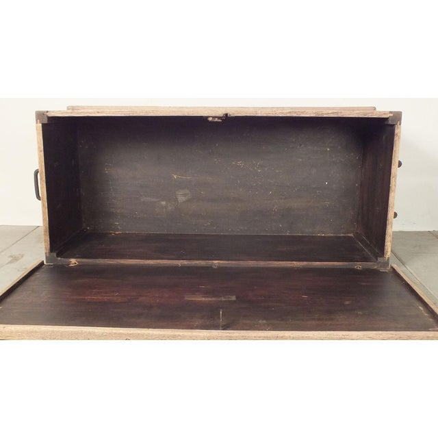Antique Bleached Wood Blanket Chest - Image 8 of 9