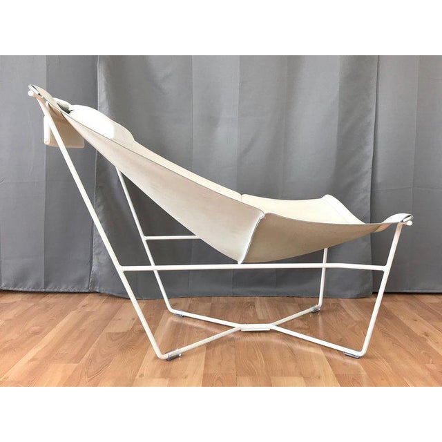 Fabulous David Weeks White Leather Semana Sling Chair For Habitat Caraccident5 Cool Chair Designs And Ideas Caraccident5Info