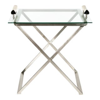 MId-Century Modern Foldable Bar Cart For Sale