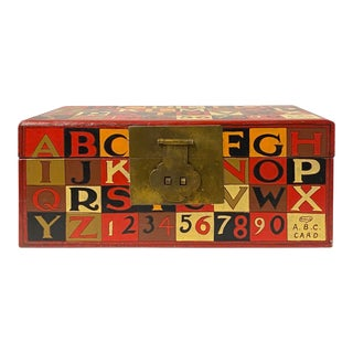 Large Red Multi-Color Characters Rectangular Storage Container Box For Sale