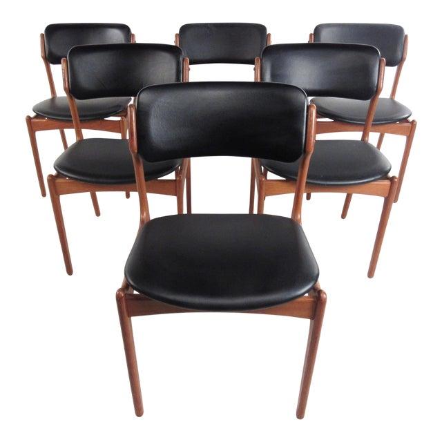 Vintage Erik Buch Scandinavian Modern Dining Chairs - Set of 6 - Image 1 of 11