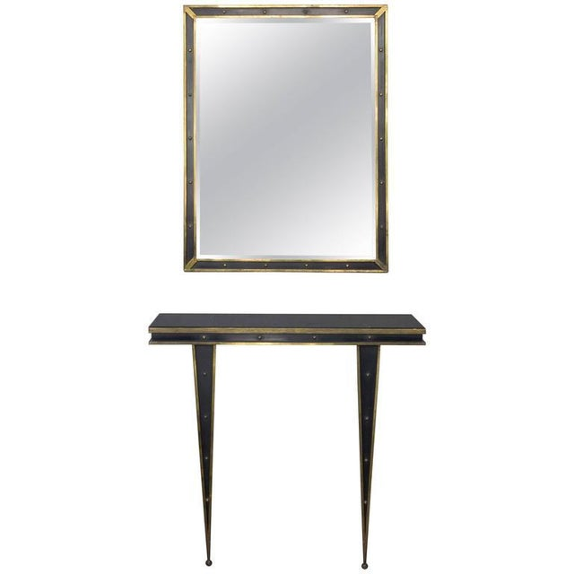 Mid-Century Italian Console and Mirror by Charles PiGuet For Sale - Image 11 of 11