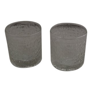 Mid-Century Icicle Cocktail Glasses- A Pair For Sale