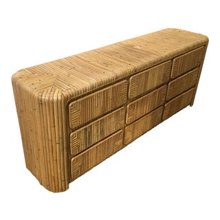 1960s Boho Chic Bamboo Sideboard For Sale