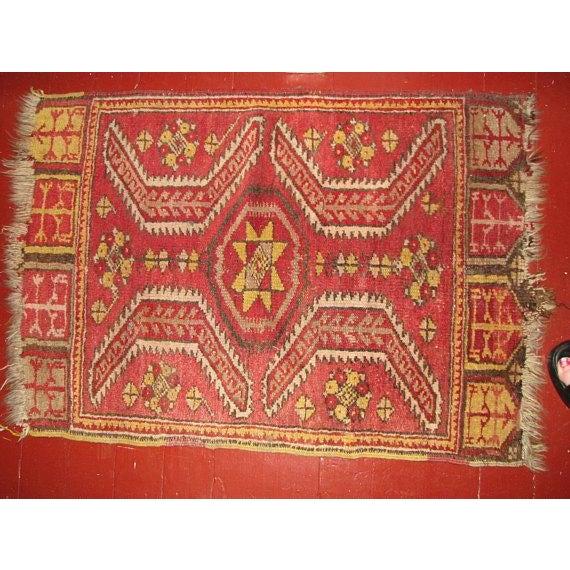 Caucasian Mafrash (Soumak Panel) Accent Kilm Rug - 1′10″ × 2′7″ For Sale - Image 4 of 4