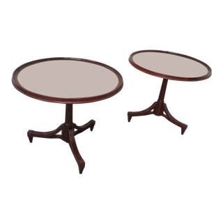 20th Century Georgian Baker Furniture Center Tables - a Pair For Sale