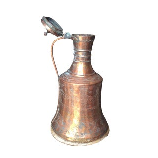 Copper Antique Jug With Lid** For Sale