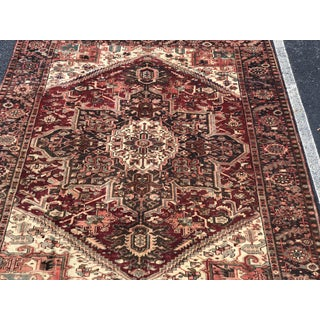 "1930's Vintage Persian Heriz Large Area Rug 9'2""x10'7"" Preview"