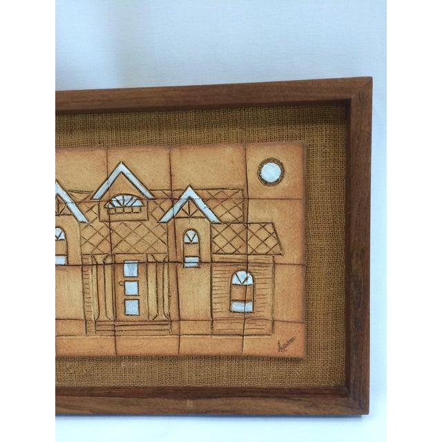 1970s Walnut Framed Art Tiles - Image 4 of 6