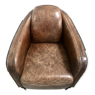Regina Andrew Leather Cowhide Club Chair