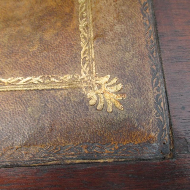 English English Antique Drop Front Writing Desk For Sale - Image 3 of 8