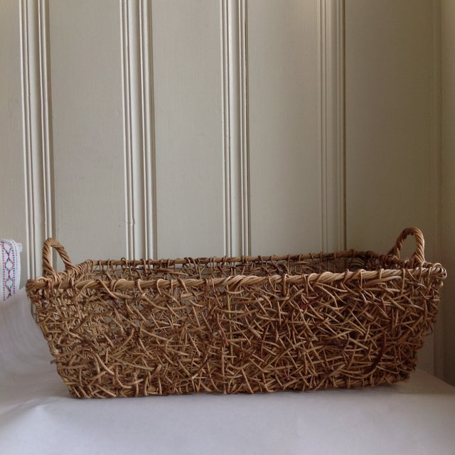 Natural Woven Twig Basket - Image 4 of 8