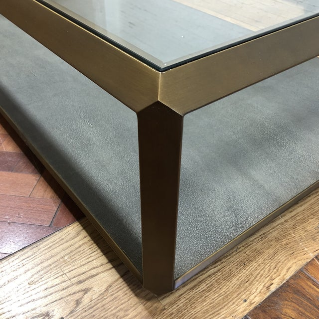 New Four Hands Bentley Shagreen Shadow Box Coffee Table For Sale In San Francisco - Image 6 of 11