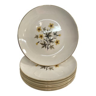 Mid-Century Knowles Sun Light Dinner Plates - Set of 8