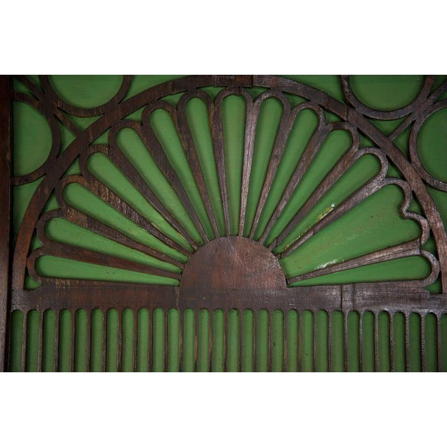 French Country 1920s French Country Oak Carved Window Mirror For Sale - Image 3 of 11