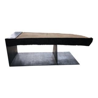 Primitive Wood Top Custom Iron Base