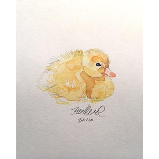 Duckling, Original Watercolor Wildlife Art.