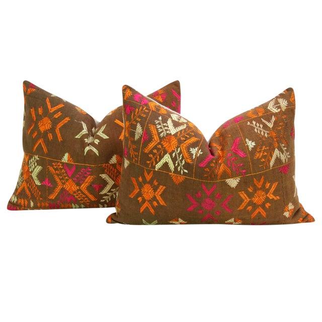 Akruthi Phulkari Pillow, Pair - Image 1 of 5