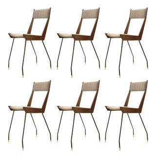 Set of Six Sleek Chairs