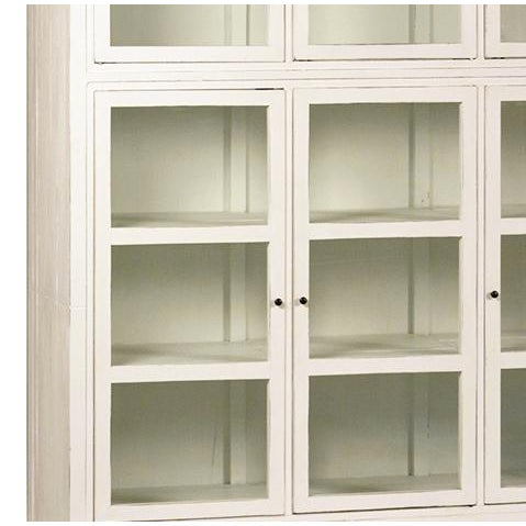 White Wood & Glass Cabinet - Image 2 of 2